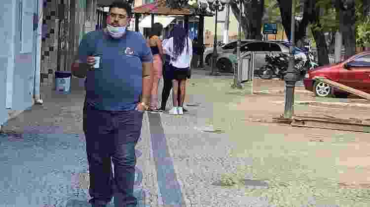 5.ago.2020 - Até na área central de Trajano de Moraes (RJ), circulação de pessoas é pequena - Herculano Barreto Filho/UOL - Herculano Barreto Filho/UOL