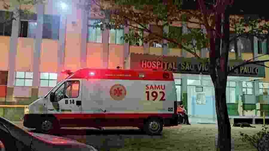 Entrada do Hospital São Vicente de Paulo, onde Bruno Wellerson Goulart dos Santos foi socorrido logo após ser atingido por raio - Divulgação/Carmo Web TV