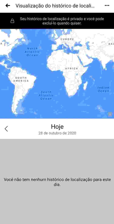 App do Facebook te mostra o histórico de localização que ele guardou - Reprodução - Reprodução