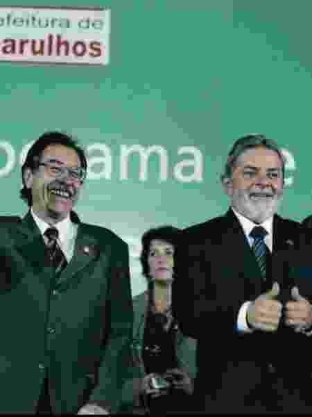 Os petistas Elói Pietá e o ex-presidente Luiz Inácio Lula da Silva em foto de 2006 - Divulgação/Instagram Elói Pietá