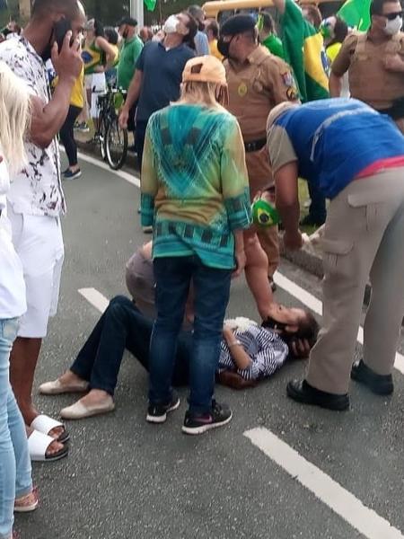 Idosa é atingida por fruta congelada em Curitiba  - Arquivo Pessoal