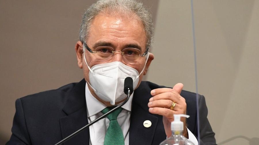 O ministro da Saúde, Marcelo Queiroga, fez declarações hoje - Jefferson Rudy/Agência Senado