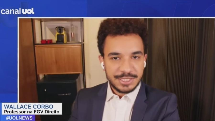 Wallace Corbo, professor na FGV Direito Rio, em entrevista ao UOL News - Reprodução/UOL News