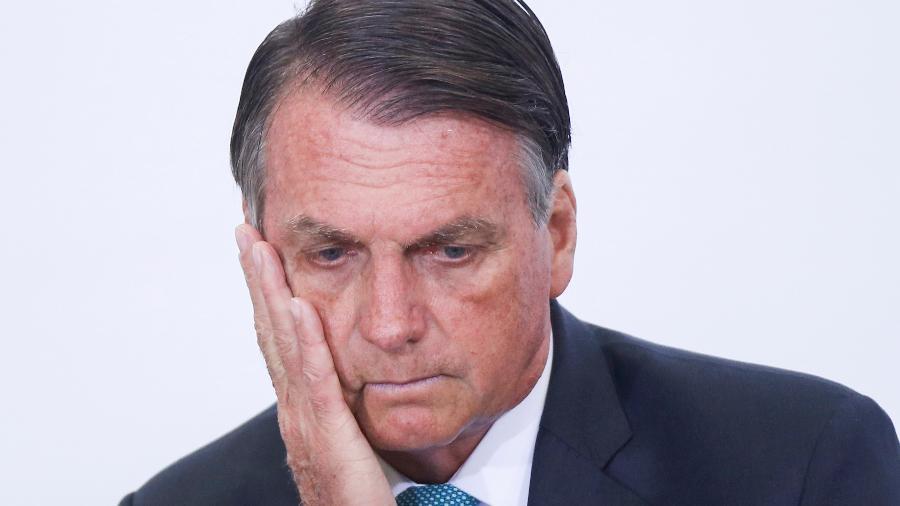 15.set.2021 - O presidente Jair Bolsonaro (sem partido) durante evento no Palácio do Planalto, em Brasília - Adriano Machado/Reuters