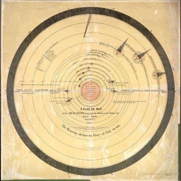 NETUNO - Após a descoberta de Urano, astrônomos começaram a fazer cálculos e perceberam que outro corpo celeste poderia estar causando perturbações gravitacionais no planeta. Em 1846, os astrônomos Johann Gottfried Galle (1812-1910) e seu assistente Heinrich Louis D'Arrest (1822-1875), ambos do Observatório de Berlim, encontraram Netuno, o oitavo planeta em ordem de distância ao Sol e o quarto em tamanho