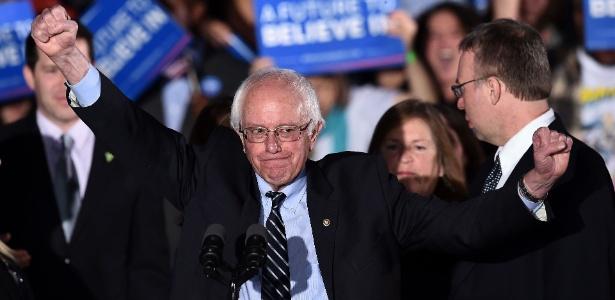 """Bernie Sanders disse que sua vitória mostra que o povo quer """"uma mudança real"""""""