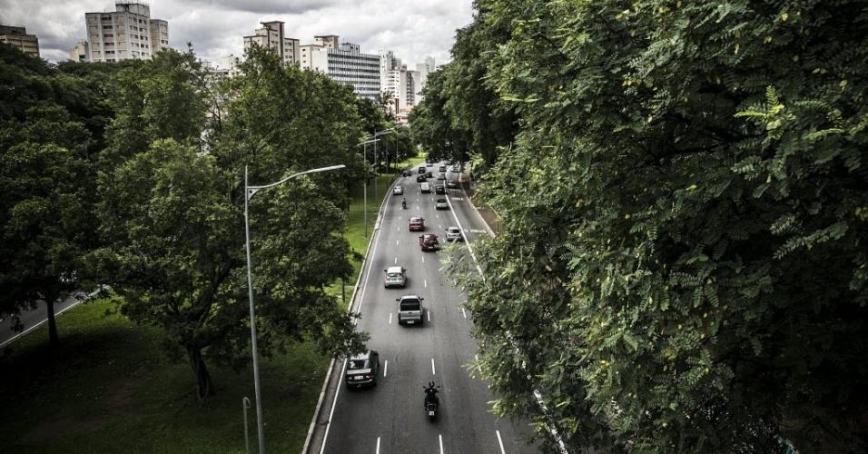 Avenida 23 de maio, construída sobre o rio Itororó, em São Paulo