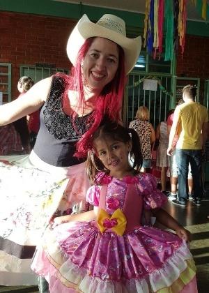Júlia Martins Rodrigues de Barros, de 4 anos, foi atingida na cabeça em tiroteio