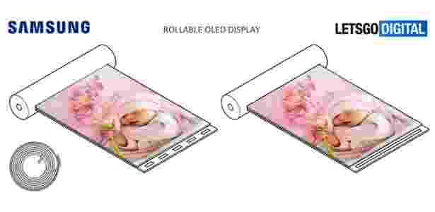 Samsung - patente de tela retrátil - Reprodução - Reprodução