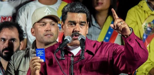 Nicolás Maduro anuncia o resultado das eleições presidenciais na Venezuela - Juan Barrreto/AFP