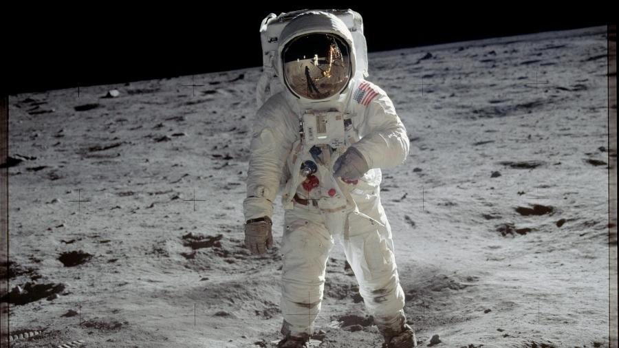 Foto da missão Apollo 11, da Nasa, que enviou astronautas à Lua em 1969 - Divulgação/Nasa