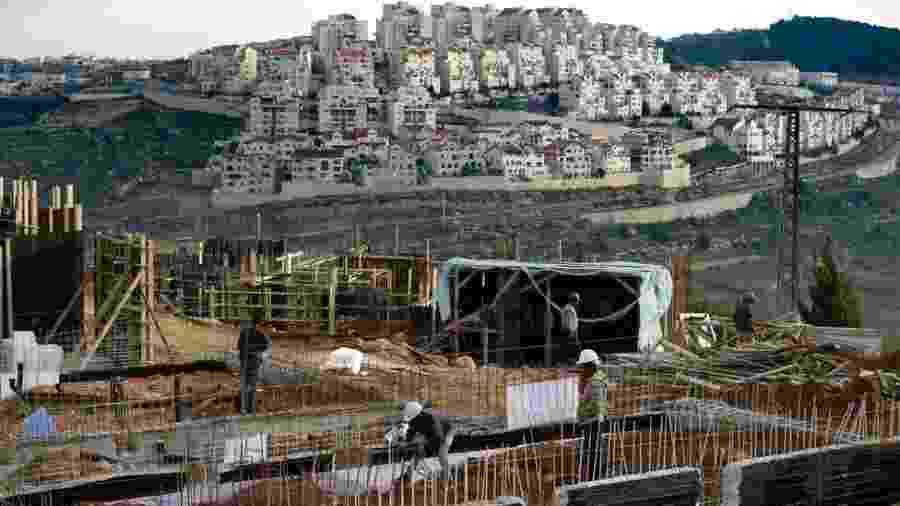 Assentamento de Efrat, em foto de 2016; essas comunidades estão no centro da disputa entre Israel e palestinos - AFP