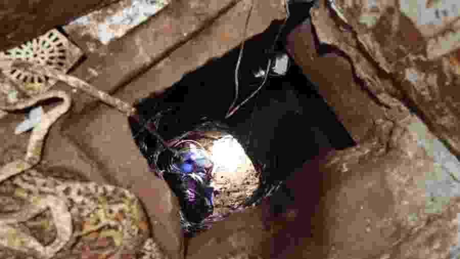 Túnel que teria sido utilizado pelo criminosos para escapar de prisão no Paraguai - Divulgação