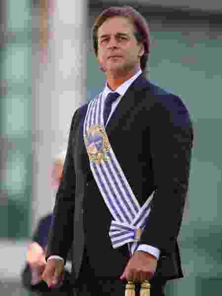 1.mar.2020 - O presidente do Uruguai, Luis Lacalle Pou, no dia de sua cerimônia de posse, em Montevidéu - Carlos Lebrato/Anadolu Agency via Getty Images