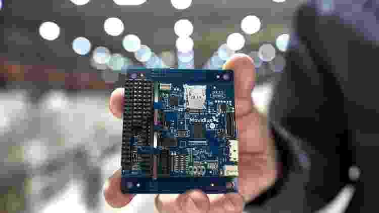 O chip Intel Movidius Myriad 2 - Divulgação/Intel - Divulgação/Intel