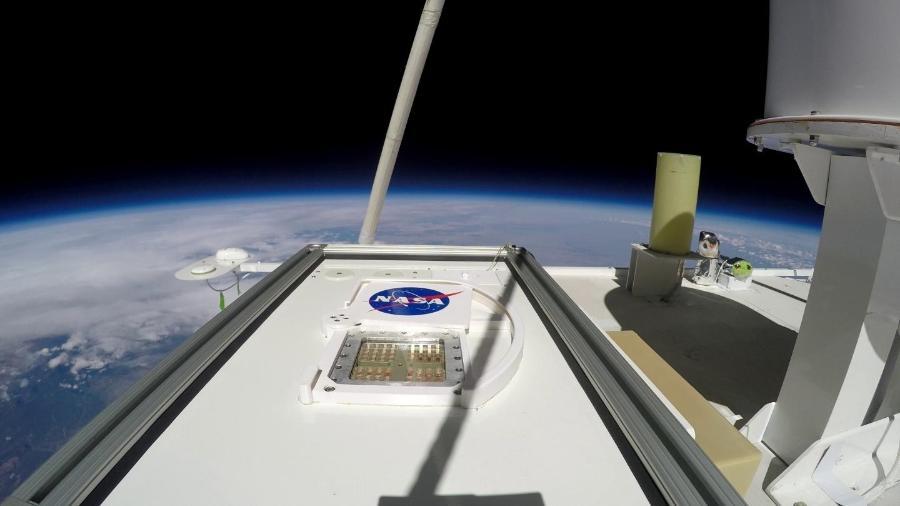 MARSBOx foi lançado na estratosfera média da Terra, a 38 km de altitude - Divulgação/Nasa