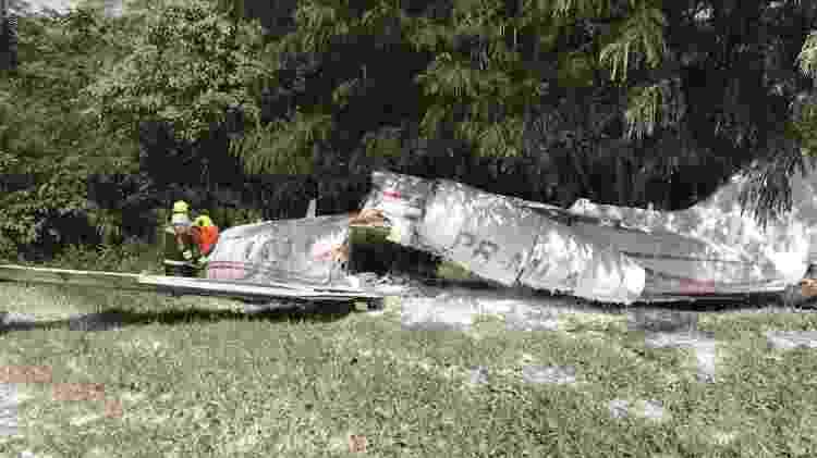 Aeronave cai 2 - Corpo de Bombeiros - Corpo de Bombeiros