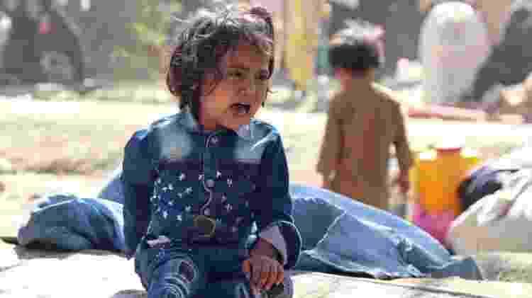 Cerca de 72 mil crianças estão fugindo para a capital nos últimos dias, segundo a ONG Save the Children - EPA - EPA