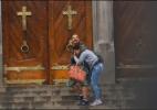 Tiroteio termina com dois mortos na escadaria da Catedral da Sé; veja cenas - Reprodução/Brasil Urgente
