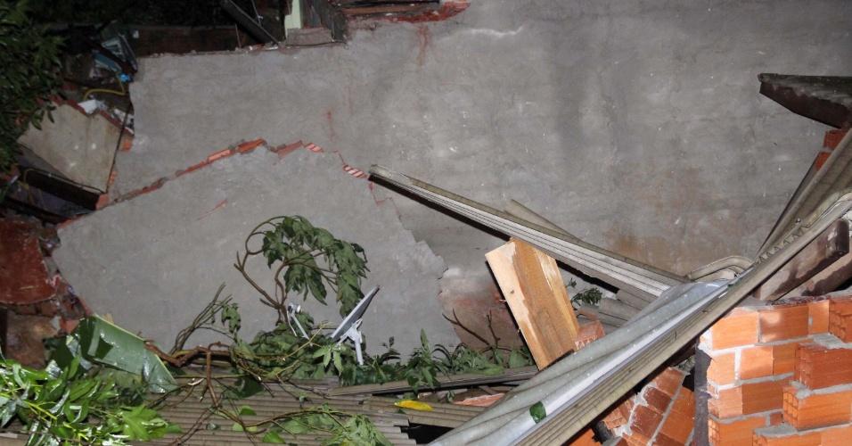 11.mar.2016 - Uma criança de quatro anos morreu soterrada após um deslizamento que atingiu várias casas em Mairiporã, na Grande São Paulo. Outras cinco pessoas, entre elas, um menino de 8 anos e uma adolescente de 16, foram resgatadas com vida e levadas para o Hospital Municipal de Mairiporã