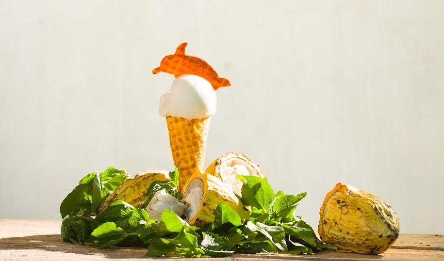 O sorvete de cacau é uma das especialidades da Boto Sorveteria Artesanal. Segundo o empresário Tiago Silva, a loja foi inaugurada há pouco mais de três meses com fila na porta