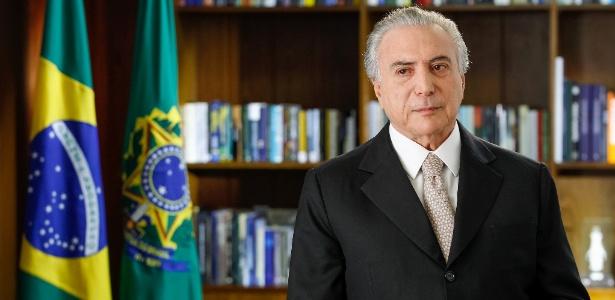 Em primeiro pronunciamento à nação, Temer diz que é hora de unir o país - Beto Barata/PR