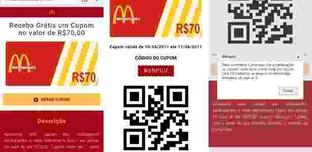 Golpe McDonald's WhatsApp R$ 70 - 1 - Reprodução - Reprodução