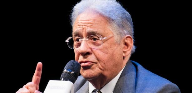 27.fev.2018 - O ex-presidente da República e presidente de honra do PSDB, Fernando Henrique Cardoso