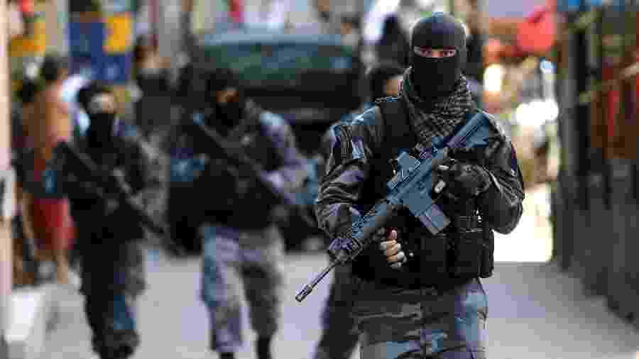Movimentação de policiais do Bope (Batalhão de Operações Especiais)  - Wilton Junior/Estadão Conteúdo