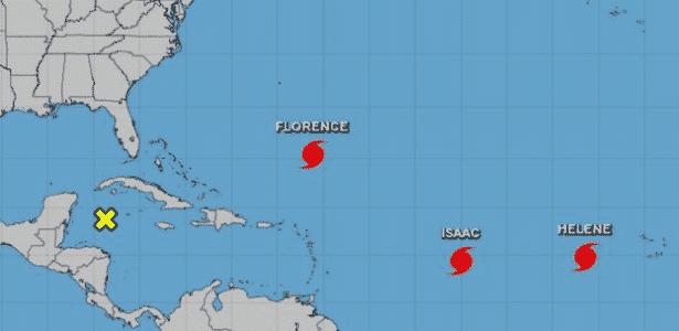 Dois outros furacões também estão se movendo através do Atlântico: o Helene e o Isaac - NOAA