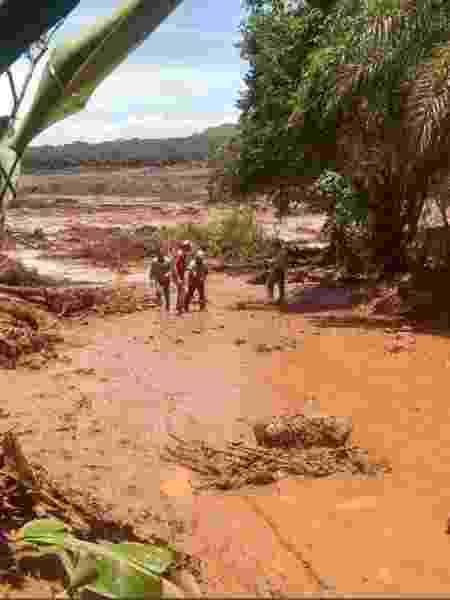 25.jan.2019 - Lama toma área em Brumadinho (MG) após rompimento de barragem - Corpo de Bombeiros de Minas Gerais - Corpo de Bombeiros de Minas Gerais