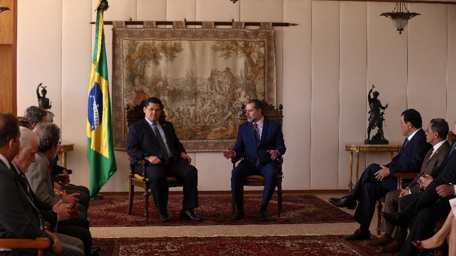 24.set.2019 - Senadores, liderados por Davi Alcolumbre, se reúnem com o presidente do STF, Dias Toffoli, para tratar de operação contra Fernando Bezerra Coelho - Pedro Ladeira/Folhapress