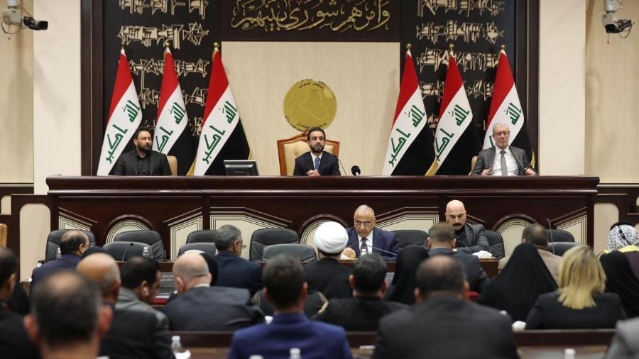 Membros do Parlamento iraquiano em Bagdá - Office/Handout via REUTERS