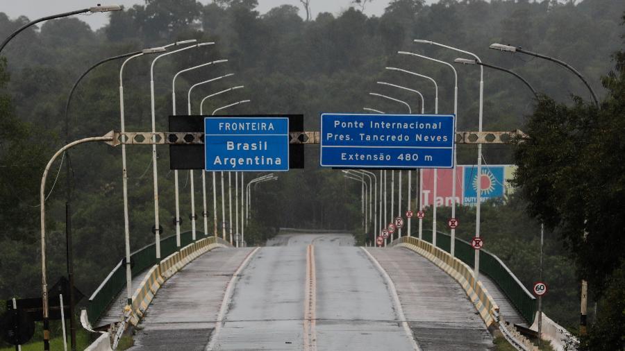 Aponte internacional Tancredo Neves,que une Brasil e Argentina, reabre a partir de hoje; ela estava fechada desde o começo da pandemiade covid-19 - Kiko Sierich/Getty Images
