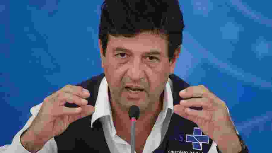 Luiz Henrique Mandetta, ministro da Saúde, durante entrevista coletiva - DIDA SAMPAIO/ESTADÃO CONTEÚDO