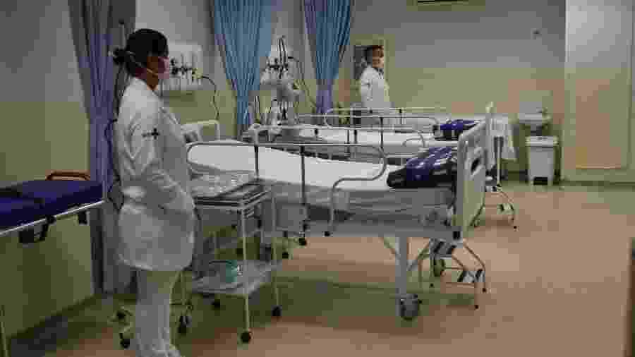 Leitos para paciente diagnosticados com o coronavírus em hospital de São Paulo - ROBERTO CASIMIRO/FOTOARENA/FOTOARENA/ESTADÃO CONTEÚDO