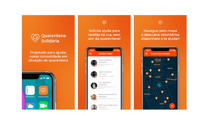 App Quarentena Solidária - Divulgação - Divulgação