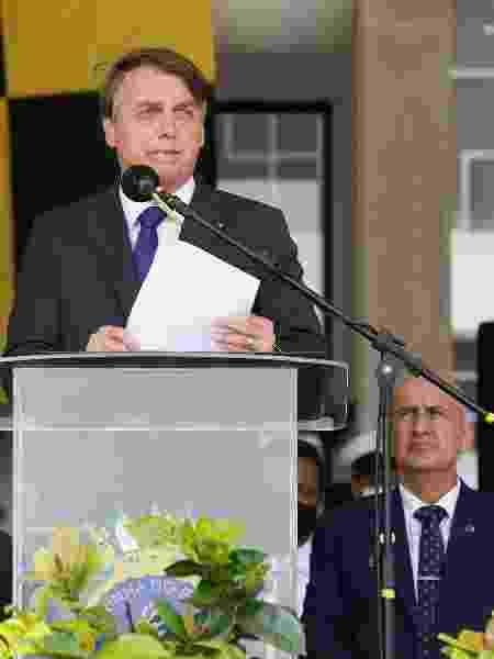 O presidente Jair Bolsonaro em cerimônia da Marinha no Rio de Janeiro - Isac Nobréga/PR