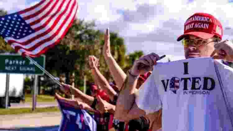Moradores de Palm Beach votaram esmagadoramente em Trump na eleição de novembro passado - GETTY IMAGES - GETTY IMAGES