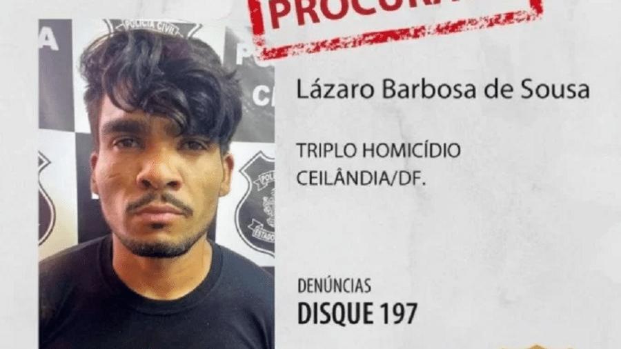 Lázaro Souza disparou tiros contra policiais e se escondeu na mata, segundo a PMDF - Divulgação/Polícia Civil do Distrito Federal