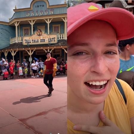 Grace viralizou nas redes sociais após receber fora cruel de Gaston, de A Bela e a Fera - TikTok/reprodução