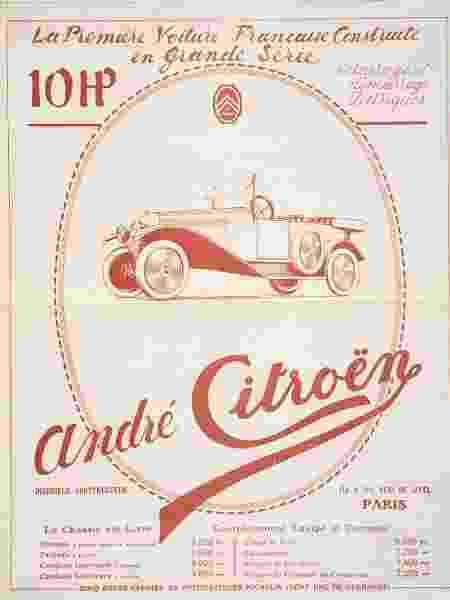 Publicidade Citroën 10HP 1919 - Divulgação - Divulgação