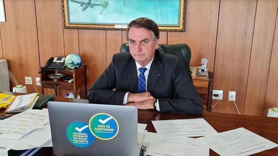 Jair Bolsonaro (sem partido) em entrevista para a Rádio Novas da Paz, de Pernambuco - Reprodução/Facebook