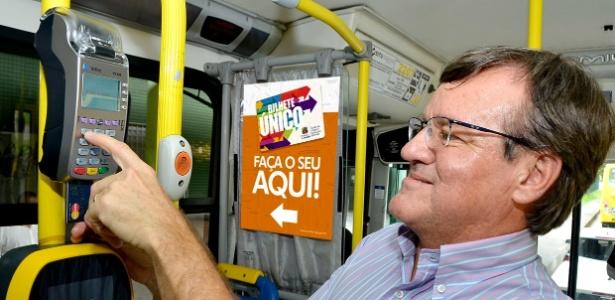 Opção de pagamento por cartão será expandida para 270 ônibus, diz prefeitura - Divulgação