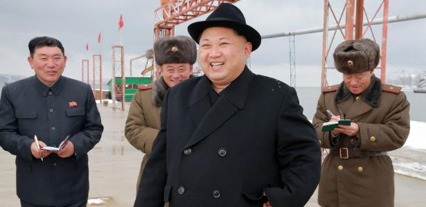 Kim Jong-un visita estação pesqueira na Coreia do Norte