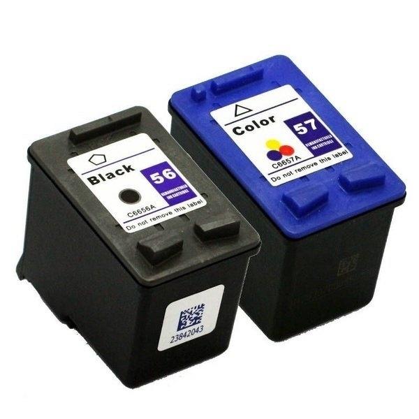 kit com cartucho HP 56 preto e HP 57 colorido, compatíveis para impressoras modelo 1210 1310 1315 do site Cartucho Etc