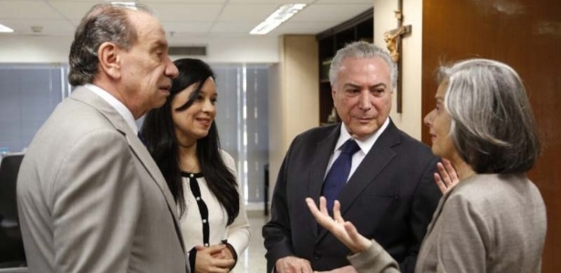 Presidente Michel Temer se reúne com Aloysio Nunes Grace Mendonça e Cármen Lúcia