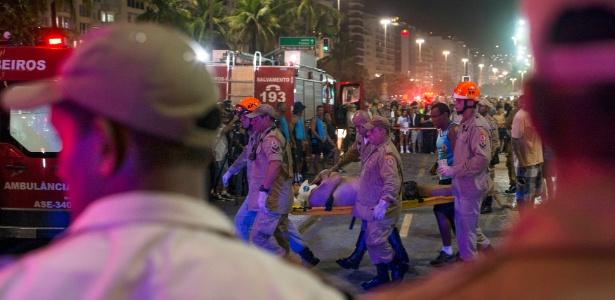 Vítimas foram atropeladas na quinta-feira (18) no calçadão de Copacabana
