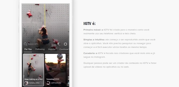 Instagram TV, ou IGTV, chega para competir com YouTube