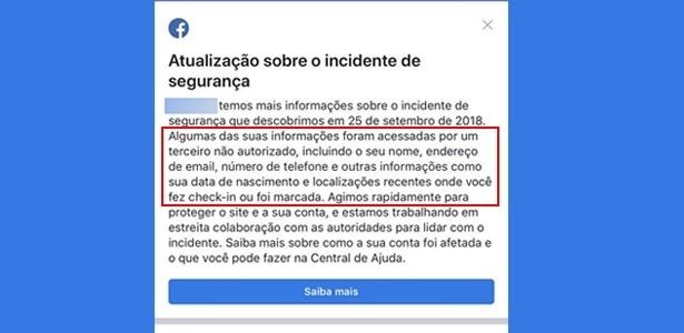 Facebook começa a avisar brasileiros que foram afetados por roubo de dados